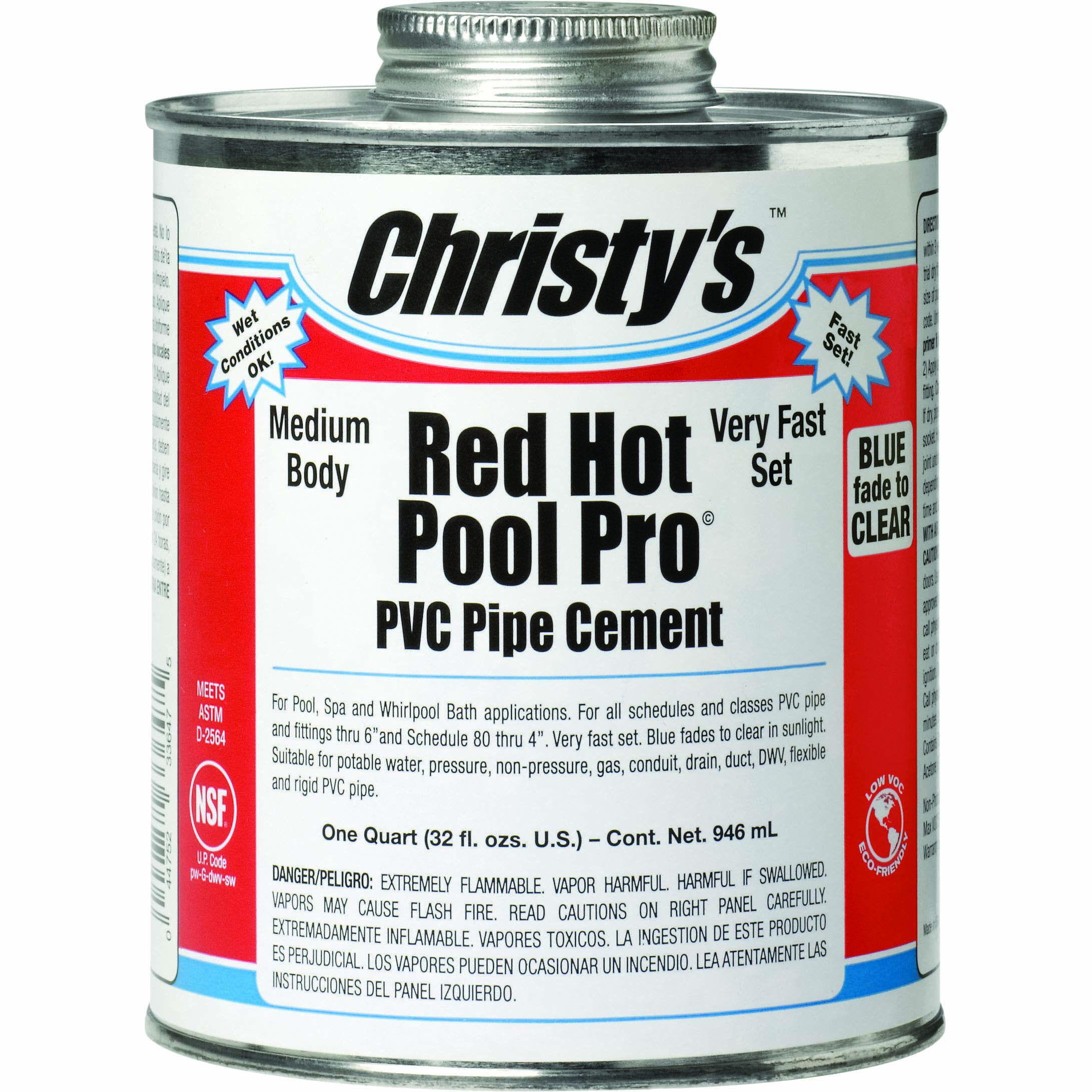 Red Hot Pool PVC Cement