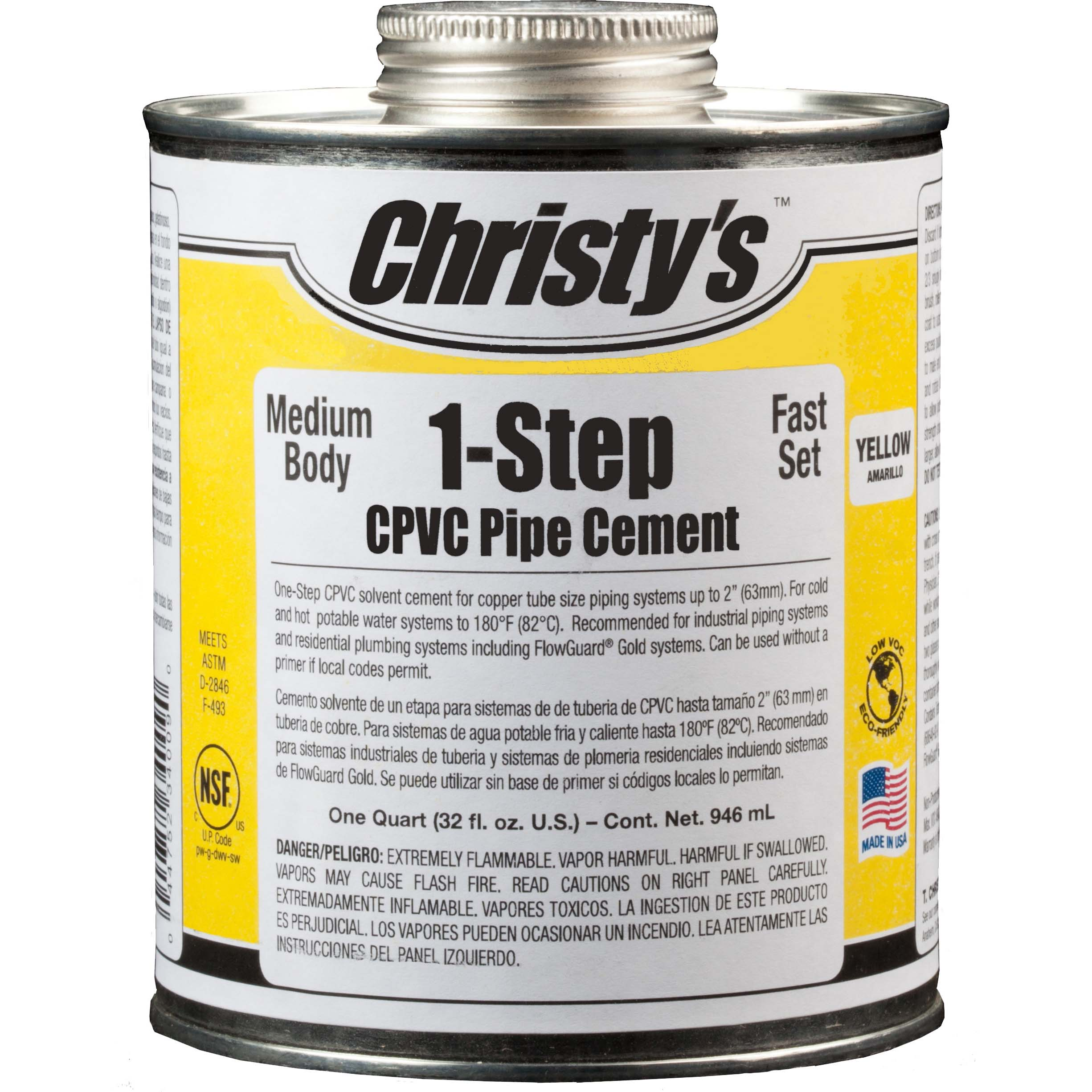 Yellow Medium Body CPVC Cement