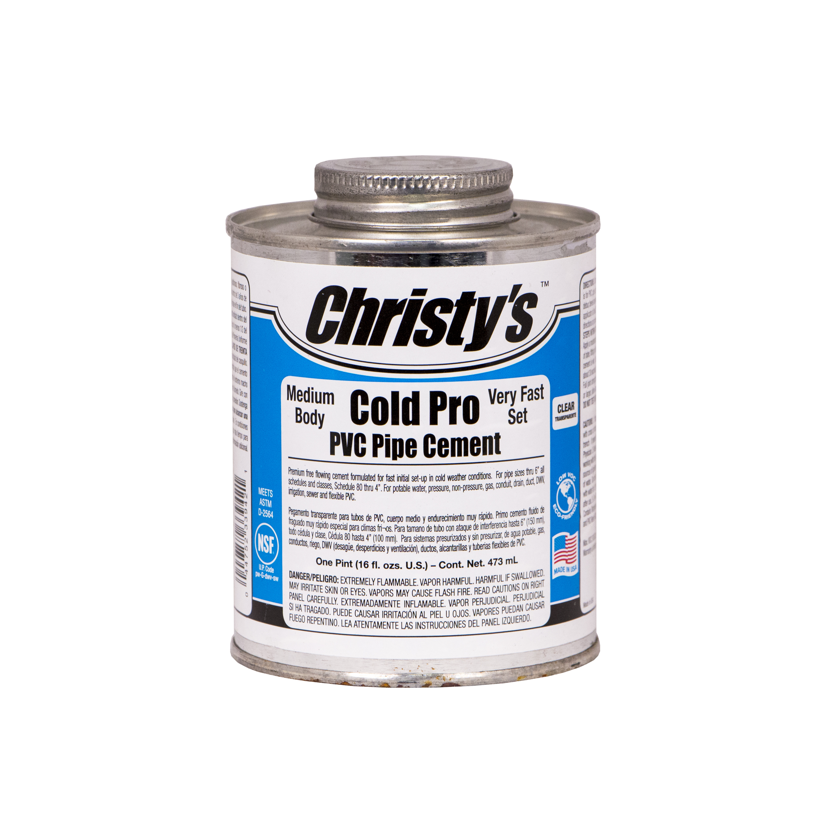Solvent For Pvc Pipe And Cement : Cold pro pvc pipe cement christy s