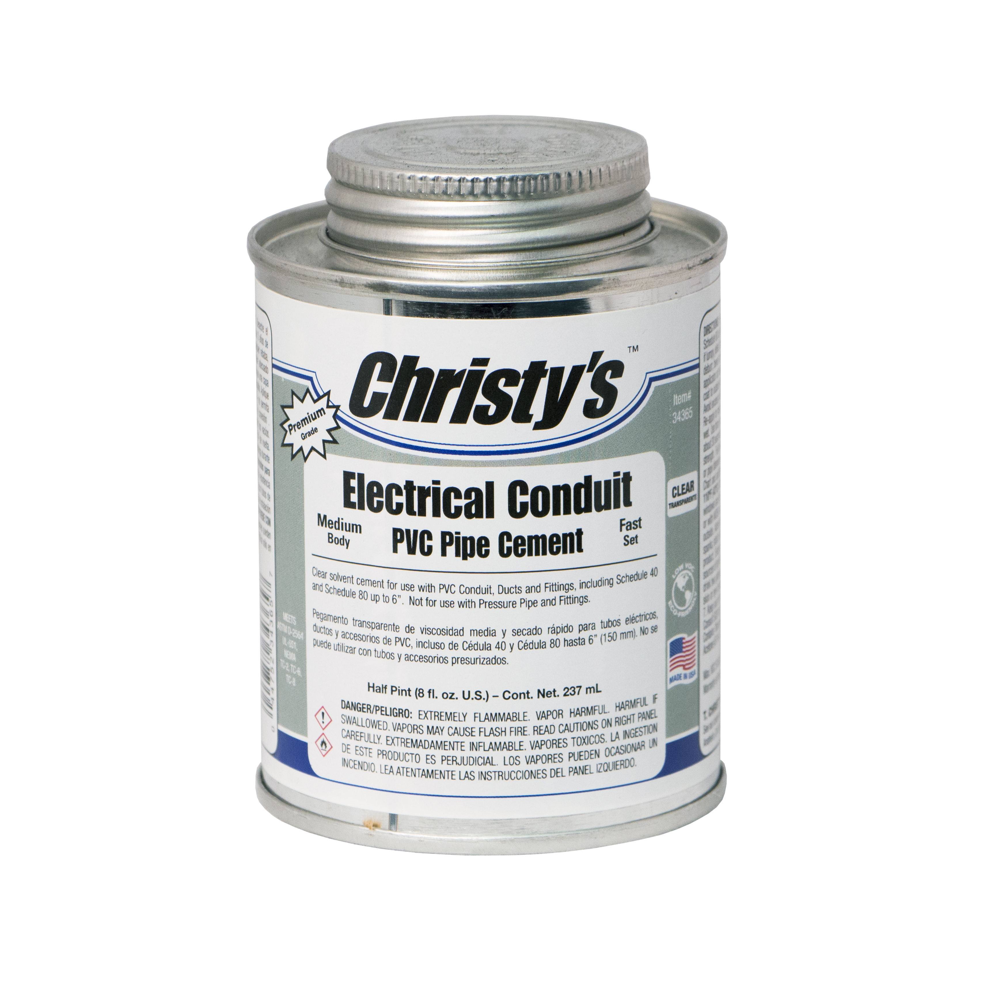 Electrical conduit cement christy s