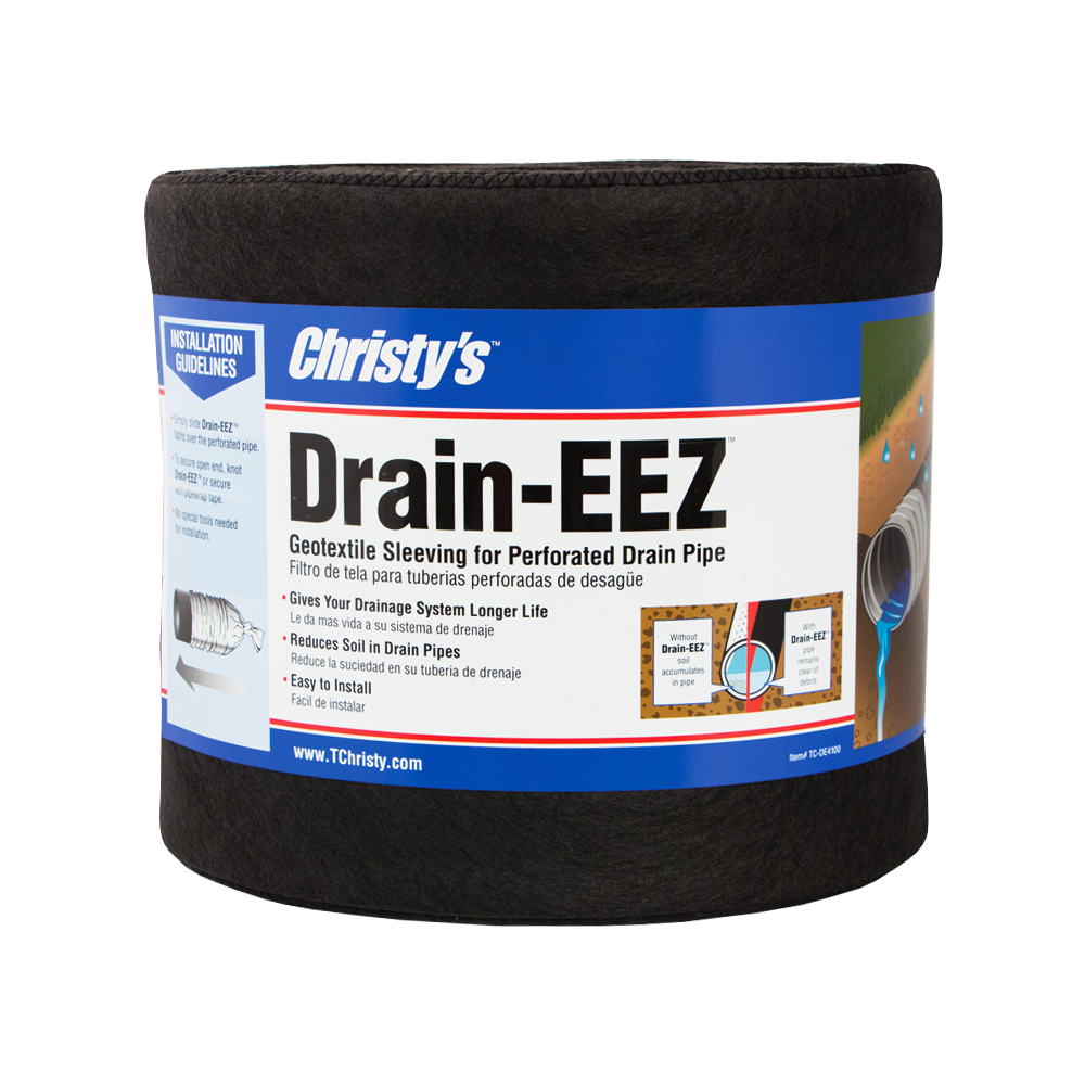 Drain-EEZ 3 1 oz/ 4″ X 10′ Drain & Filter Fabric – Christy's