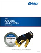 Job Site Essentials Price List